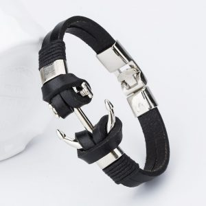 bangle-handmade-leather-anchor-1