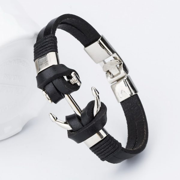 bangle-handmade-leather-anchor-1