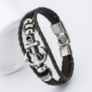bangle-handmade-leather-anchor-4