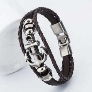 bangle-handmade-leather-anchor-4
