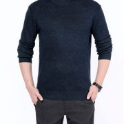 Cashmere Knitted Men'S Sweater O-Neck-11