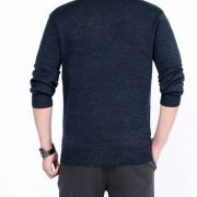 Cashmere Knitted Men'S Sweater O-Neck-9