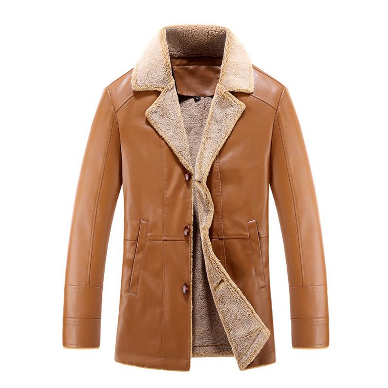 Men Winter Leather Jacket