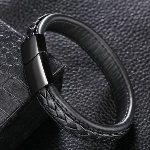 Men'S Bracelet Genuine Leather