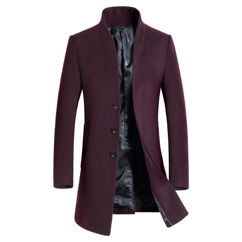 Men'S Winter Wool Coat