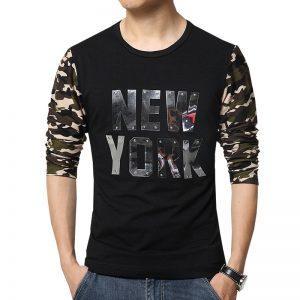 Men's Casual Cotton T-shirt NEW YORK-1