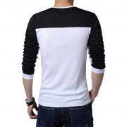 Mens Casual Cotton T-shirt V-Neck-4