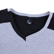 Mens Casual Cotton T-shirt V-Neck-5
