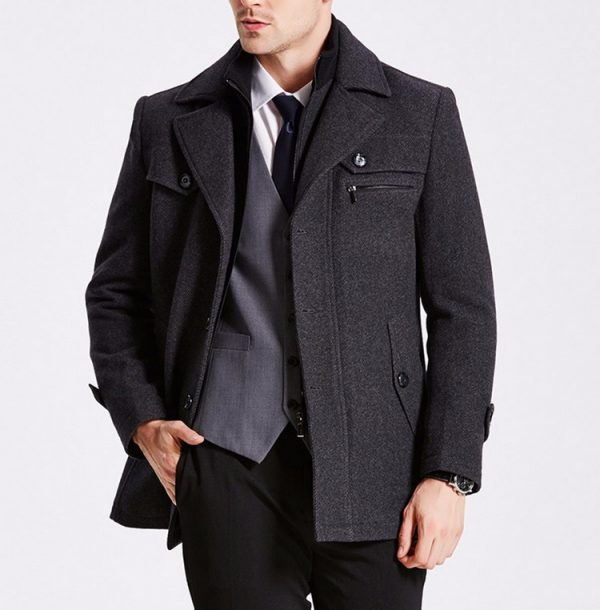 Winter Men Trench Coat