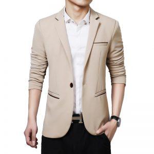 Men'S Blazer Single Button-1
