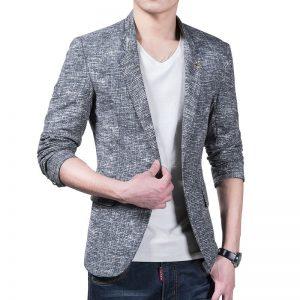 Men Linen Casual Blazer1