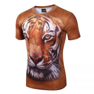 T-Shirt With Animals 3D Lion, Tiger1