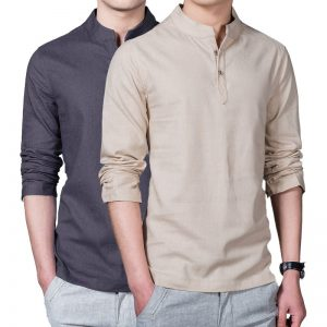 Summer Casual Men Linen Shirt