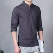 Summer Casual Men Linen Shirt-3