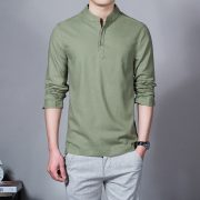Summer Casual Men Linen Shirt-4