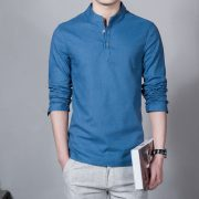 Summer Casual Men Linen Shirt-5