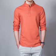 Summer Casual Men Linen Shirt-7