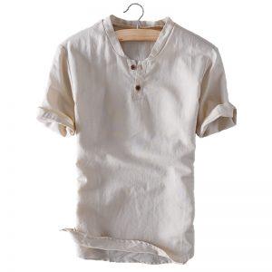 Summer Linen Mens Shirt-1