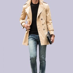 Autumn Spring Men's Trench Coat-1