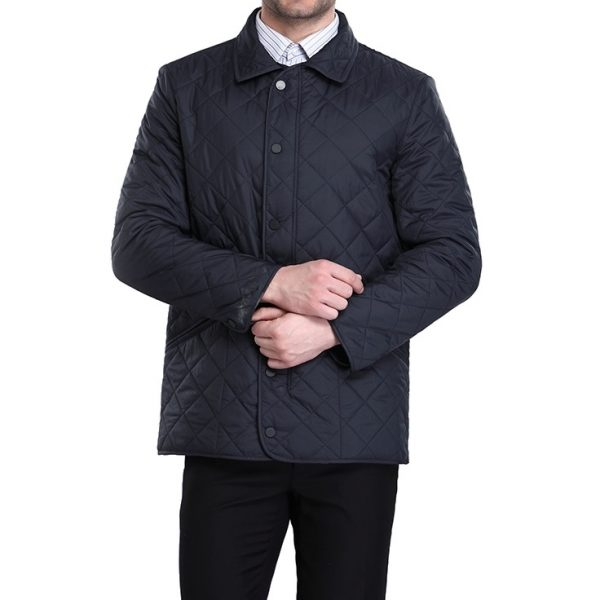 Bussiness Causual Mens Quilted Jacket-1-2