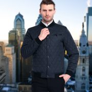 Men Fashion Quilted Bomber Jacket10