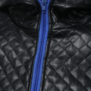 Jacket Zipper Hood Leather-10
