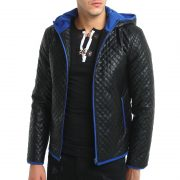 Jacket Zipper Hood Leather-3