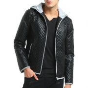 Jacket Zipper Hood Leather-6