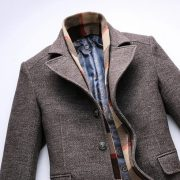 Thick Man'S Trench Coat and Scarf-20