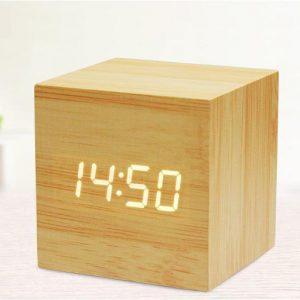 1-The CUBE Wood Clock1-1