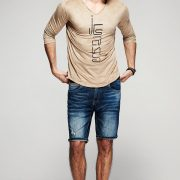 Fashionable Men'S T-Shirt T-100-1