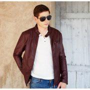 Casual Leather Fleece Jacket -2