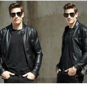 Casual Leather Fleece Jacket -20