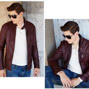 Casual Leather Fleece Jacket -21