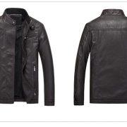 Casual Leather Fleece Jacket -24