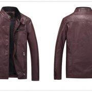 Casual Leather Fleece Jacket -25