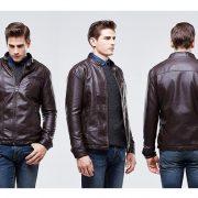 Casual Leather Fleece Jacket -3