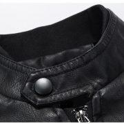 Casual Leather Fleece Jacket -30