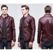 Casual Leather Fleece Jacket -4