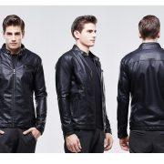 Casual Leather Fleece Jacket -5