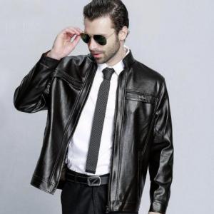 Slim Leather Jacket Men's Z11 -5