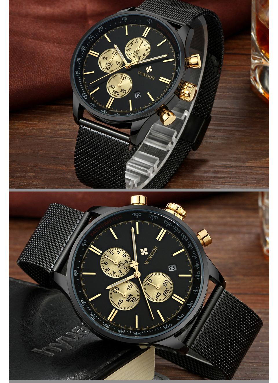 Elegant Luxury Brand Quartz Men Watches