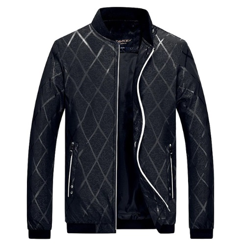 Contemporary Men'S Bomber Jacket