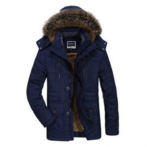 Elegant Winter Thermal Hooded Parka Jacket