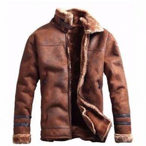 Stylish Men'S Faux Leather Jacket