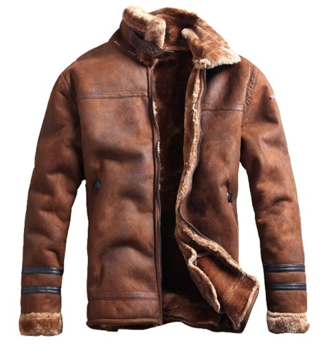 Stylish Men'S Faux Leather Jacket