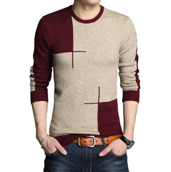 Thick Warm Sweater O-Neck Wool