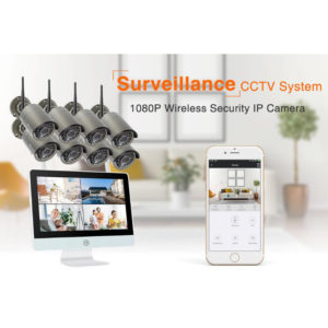 8CH Outdoor Security System With 12-inch LCD Monitor