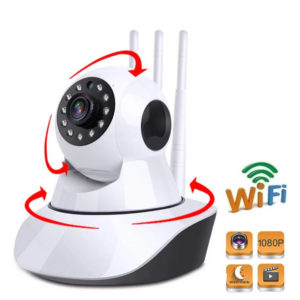 Wide-angle Night Vision Auto Tracking indoor Security Camera