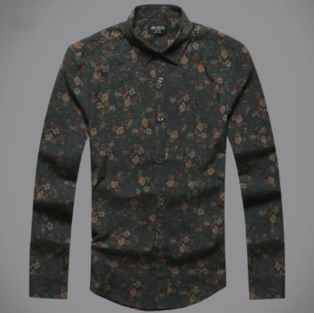Vintage Cotton Casual Men Shirt